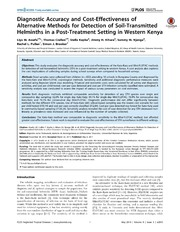 Vol 8: Diagnostic Accuracy and Cost-Effectiveness of Alternative Methods for Detection of Soil-Transmitted Helminths in a Post-Treatment Setting in Western Kenya.
