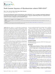 Vol 2: Draft Genome Sequence of Mycobacterium vulneris DSM 45247T.