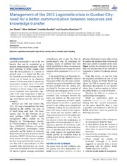 Genomic characterization of a large outbreak of legionella for 20 volume salon gilbert