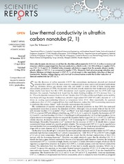 Vol 4: Low thermal conductivity in ultrathin carbon nanotube 2, 1.