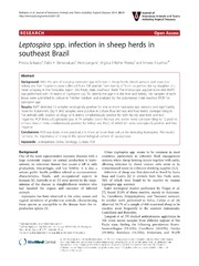 Vol 20: Leptospira spp. infection in sheep herds in southeast Brazil.