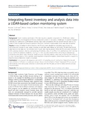 Vol 9: Integrating forest inventory and analysis data into a LIDAR-based carbon monitoring system.