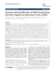 Vol 14: Genome-wide identification of WRKY family genes and their response to cold stress in Vitis vinifera.