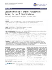 Vol 9: Cost-effectiveness of enzyme replacement therapy for type 1 Gaucher disease.