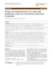 Vol 13: Design and implementation of a high yield production system for recombinant expression of peptides.