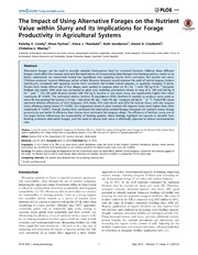 Vol 9: The Impact of Using Alternative Forages on the Nutrient Value within Slurry and Its Implications for Forage Productivity in Agricultural Systems.