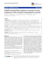 Vol 12: PapMV nanoparticles improve mucosal immune responses to the trivalent inactivated flu vaccine.