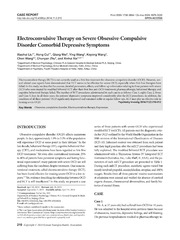 Vol 11: Electroconvulsive Therapy on Severe Obsessive-Compulsive Disorder Comorbid Depressive Symptoms.
