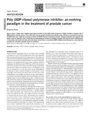 Vol 16: Poly ADP-ribose polymerase inhibitor: an evolving paradigm in the treatment of prostate cancer.