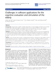 Vol 11: Challenges in software applications for the cognitive evaluation and stimulation of the elderly.