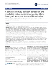 Vol 10: A comparison study between periosteum and resorbable collagen membrane on iliac block bone graft resorption in the rabbit calvarium.