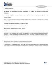 Vol 16: La tumeur de Buschke-Lowenstein anorectale: propos de 16 cas et revue de la littrature.