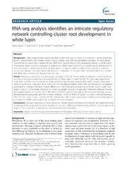 Vol 15: RNA-seq analysis identifies an intricate regulatory network controlling cluster root development in white lupin.