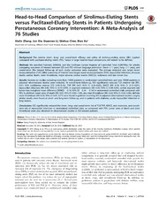Vol 9: Head-to-Head Comparison of Sirolimus-Eluting Stents versus Paclitaxel-Eluting Stents in Patients Undergoing Percutaneous Coronary Intervention: A Meta-Analysis of 76 Studies.