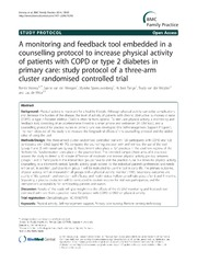 Vol 15: A monitoring and feedback tool embedded in a counselling protocol to increase physical activity of patients with COPD or type 2 diabetes in primary care: study protocol of a three-arm cluster randomised controlled trial.