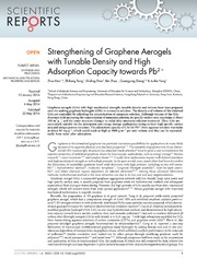 Vol 4: Strengthening of Graphene Aerogels with Tunable Density and High Adsorption Capacity towards Pb2 .
