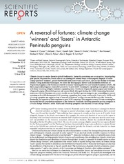 Vol 4: A reversal of fortunes: climate change -winners- and -losers- in Antarctic Peninsula penguins.
