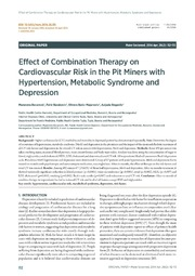 Vol 26: Effect of Combination Therapy on Cardiovascular Risk in the Pit Miners with Hypertension, Metabolic Syndrome and Depression.