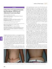 Vol 41: A Rare Form of Congenital Amniotic Band Syndrome: Total Circular Abdominal Constriction Band.