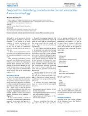 Vol 2: Proposal for Describing Procedures to Correct Varicocele. A New Terminology.