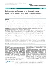 Vol 6: Swimming performances in long distance open-water events with and without wetsuit.