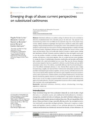 Emerging drugs of abuse: current perspectives on substituted