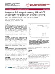 Vol 16: Long-term follow-up of coronary MR and CT angiography for prediction of cardiac events.