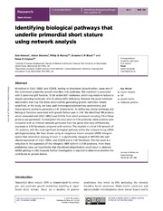 Vol 52: Identifying biological pathways that underlie primordial short stature using network analysis.