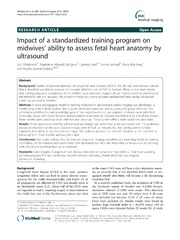 Vol 14: Impact of a standardized training program on midwives ability to assess fetal heart anatomy by ultrasound.