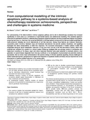 Vol 5: From computational modelling of the intrinsic apoptosis pathway to a systems-based analysis of chemotherapy resistance: achievements, perspectives and challenges in systems medicine.