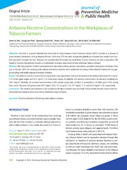 Vol 47: Airborne Nicotine Concentrations in the Workplaces of Tobacco Farmers.