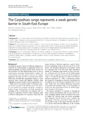 Vol 15: The Carpathian range represents a weak genetic barrier in South-East Europe.