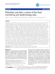 Vol 13: Phthalates and diet: a review of the food monitoring and epidemiology data.
