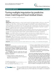 Vol 14: Tuning multiple imputation by predictive mean matching and local residual draws.