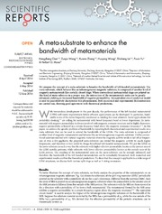 Vol 4: A meta-substrate to enhance the bandwidth of metamaterials.