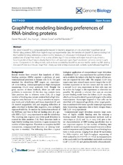 Vol 15: GraphProt: modeling binding preferences of RNA-binding proteins.