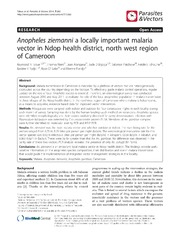 Vol 7: Anopheles ziemanni a locally important malaria vector in Ndop health district, north west region of Cameroon.