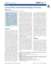 Vol 10: A New Online Computational Biology Curriculum.