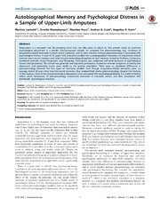 Vol 9: Autobiographical Memory and Psychological Distress in a Sample of Upper-Limb Amputees.