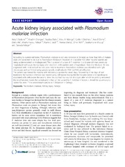 Vol 13: Acute kidney injury associated with Plasmodium malariae infection.