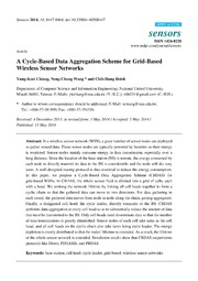 Vol 14: A Cycle-Based Data Aggregation Scheme for Grid-Based Wireless Sensor Networks.