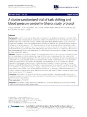 Vol 9: A cluster-randomized trial of task shifting and blood pressure control in Ghana: study protocol.