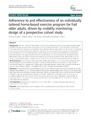 Vol 14: Adherence to and effectiveness of an individually tailored home-based exercise program for frail older adults, driven by mobility monitoring: design of a prospective cohort study.