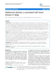 Vol 10: Abdominal obesity is associated with heart disease in dogs.