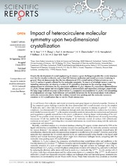 Vol 4: Impact of heterocirculene molecular symmetry upon two-dimensional crystallization.