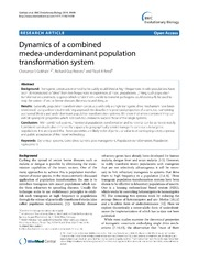 Vol 14: Dynamics of a combined medea-underdominant population transformation system.