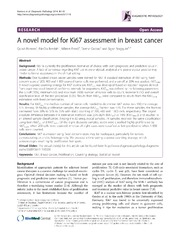 Vol 9: A novel model for Ki67 assessment in breast cancer.
