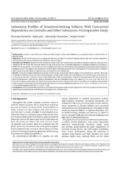 Vol 2: Laboratory Profiles of Treatment-Seeking Subjects With Concurrent Dependence on Cannabis and Other Substances: A Comparative Study.