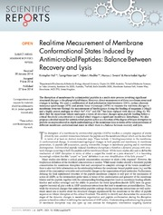 Vol 4: Real-time Measurement of Membrane Conformational States Induced by Antimicrobial Peptides: Balance Between Recovery and Lysis.