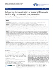 Vol 12: Advancing the application of systems thinking in health: why cure crowds out prevention.